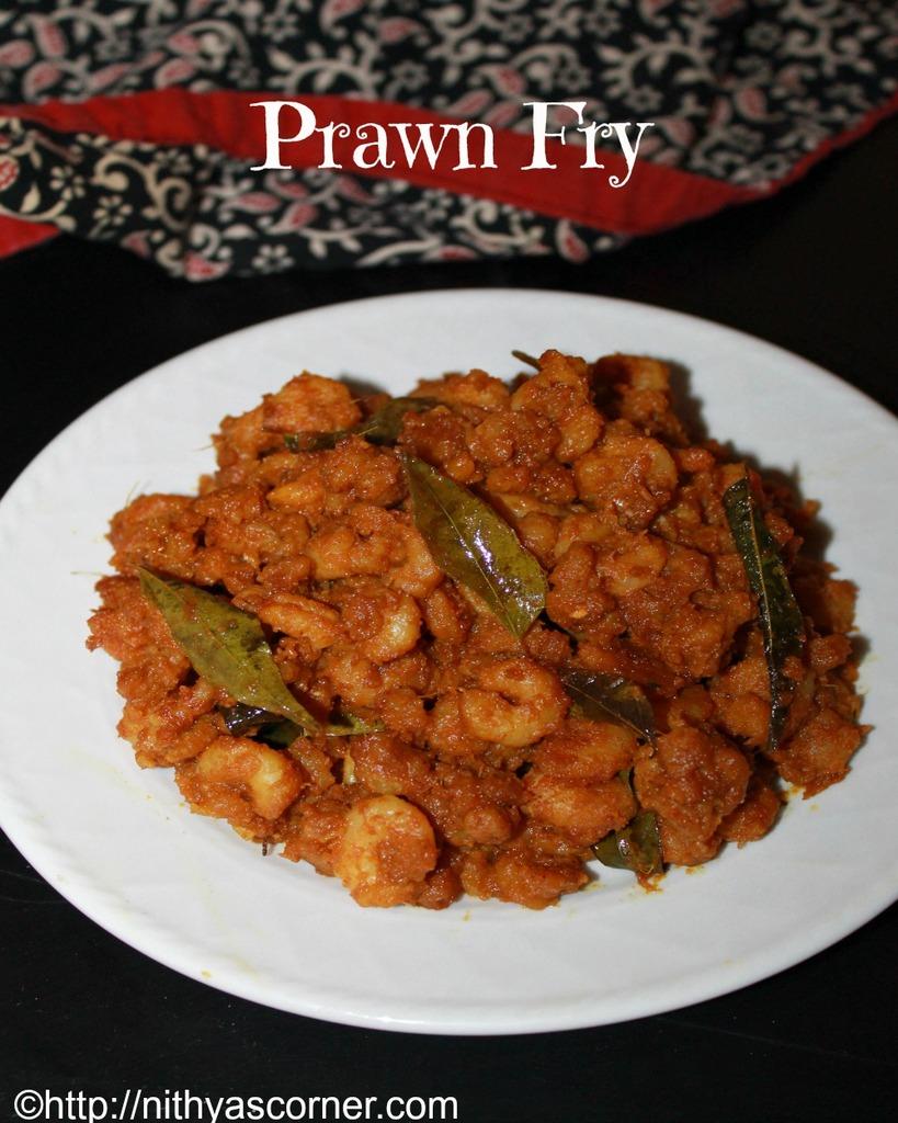 Prawn Fry Recipe,Prawn Varuval