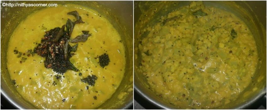 Pudalangai kootu recipe, snake gourd kootu recipe