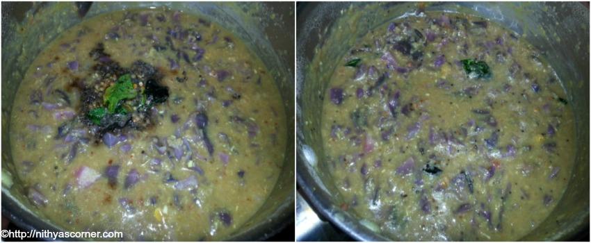 Purple cabbage kootu recipe, easy cabbage kootu recipe