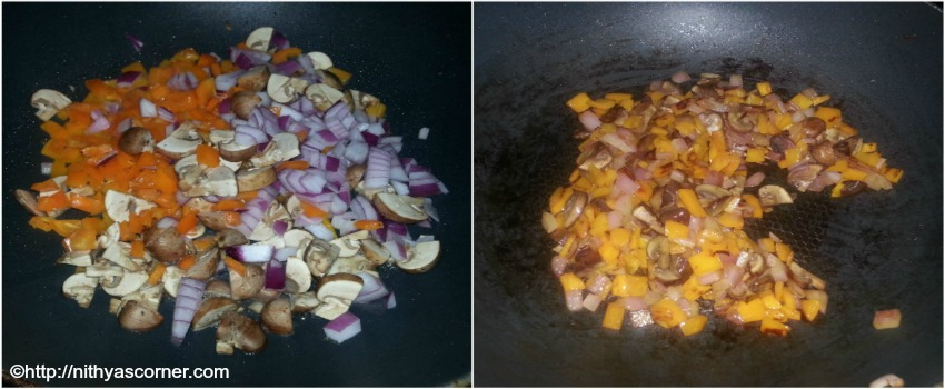 Mushroom bell pepper quiche