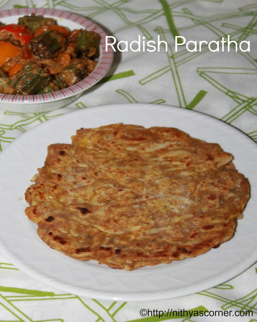 Radish paratha recipe, mooli paratha recipe