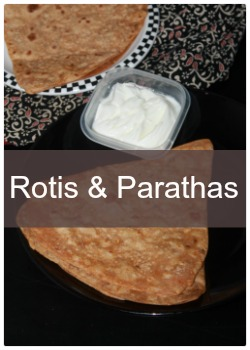 Collection of Indian rotis,chapathi and parathas