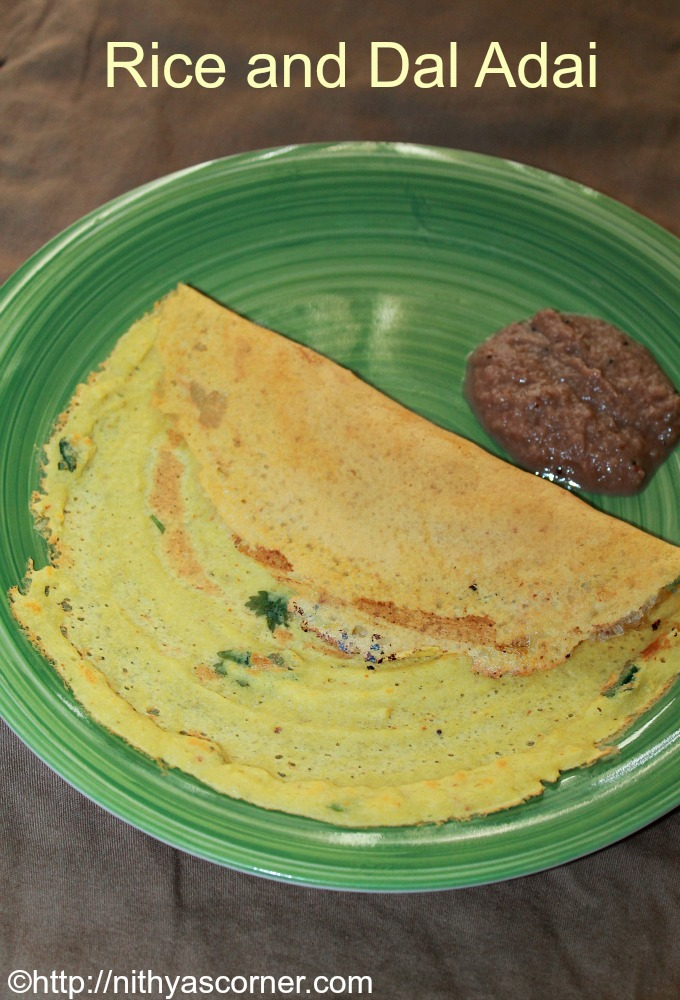 Arisi paruppu adai recipe