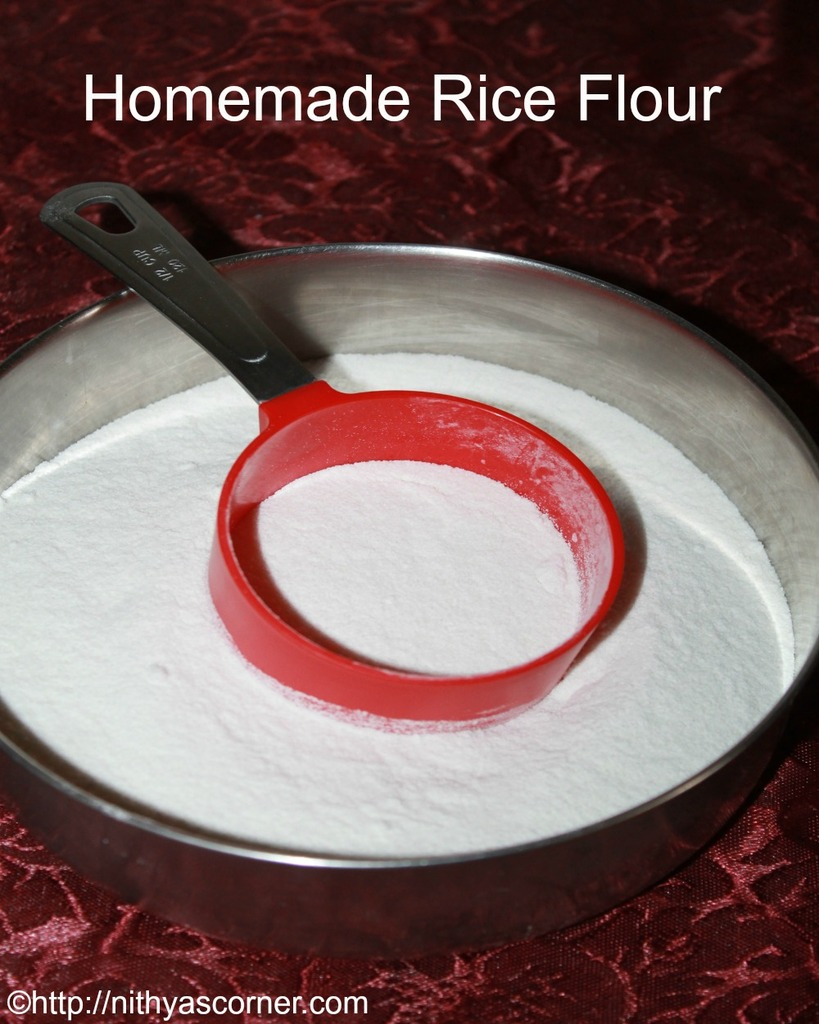 homemade rice flour with pictures
