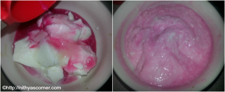 rose lassi with stepwise pictures