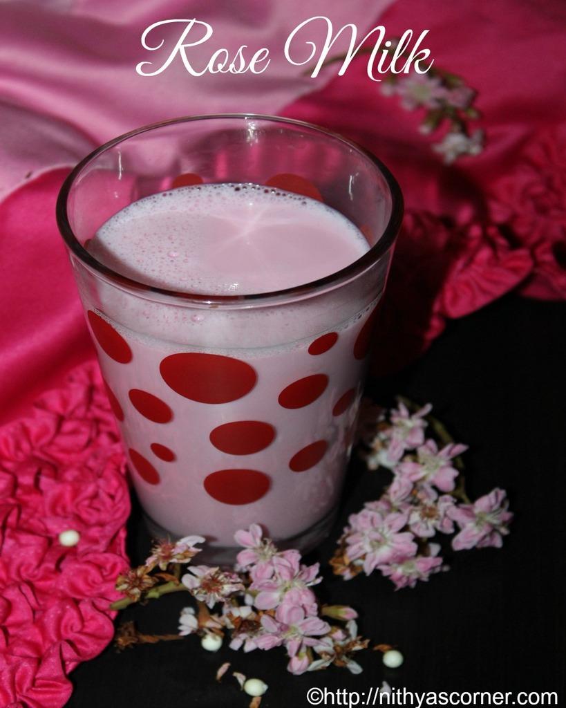 Rose Milk Recipe, Rose Milk Shake