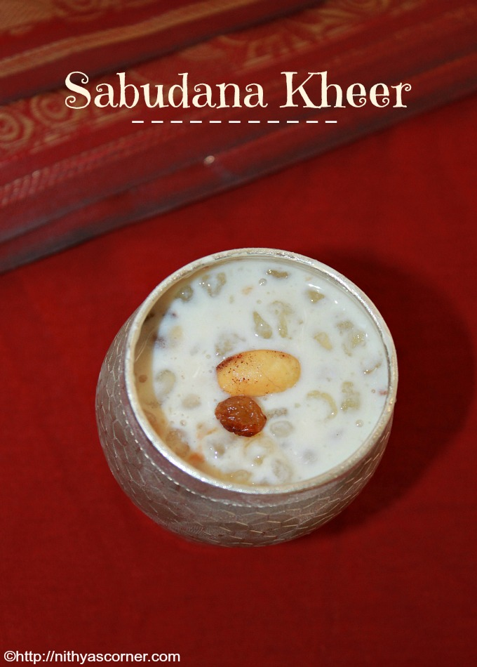Javvarisi payasam recipe