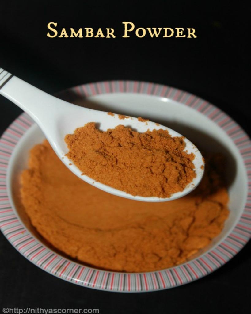iyer sambar powder recipe