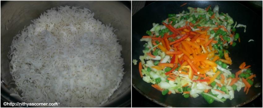 Schezwan fried rice recipe, vegetable schezwan fried rice recipe