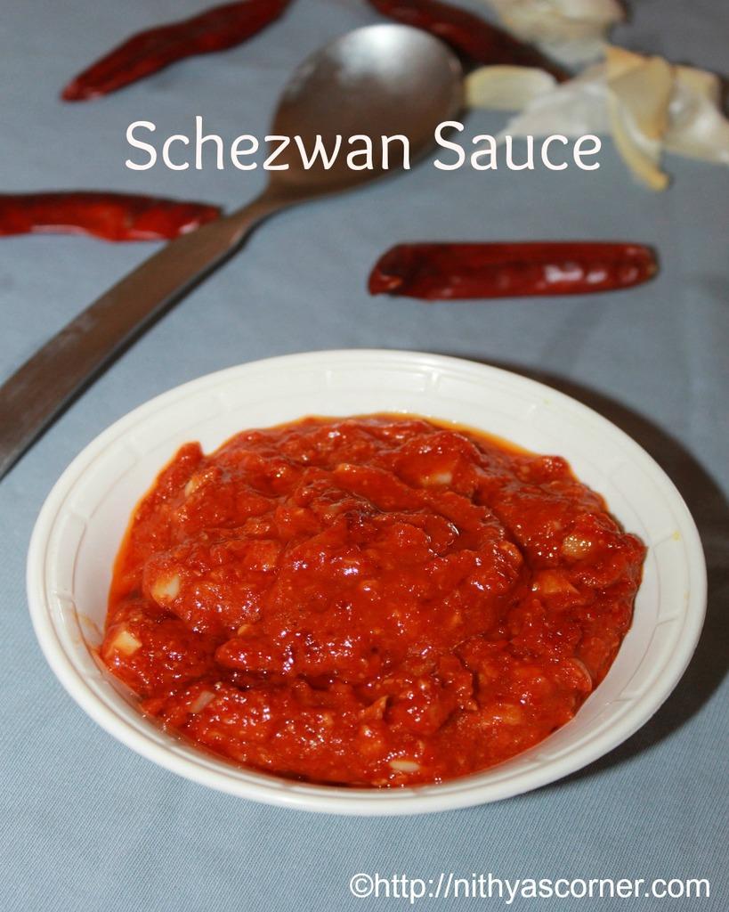 Schezwan sauce recipe, homemade schezwan sauce recipe