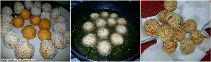 Sweet Potato Sesame Balls