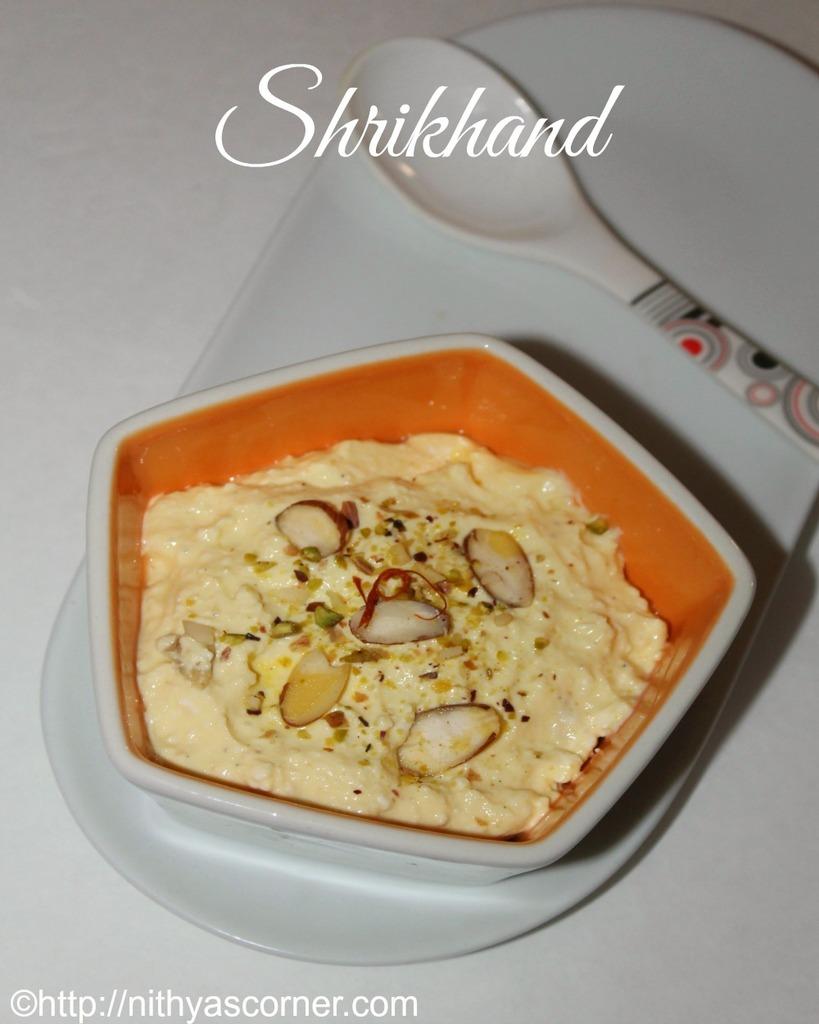 Shrikhand recipe, kesar elaichi shrikhand