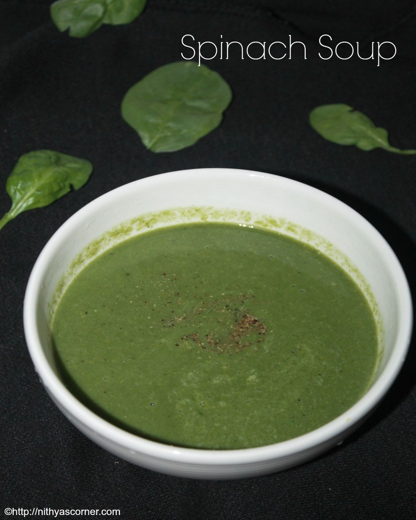 Spinach soup recipe, palak soup, keerai soup recipe