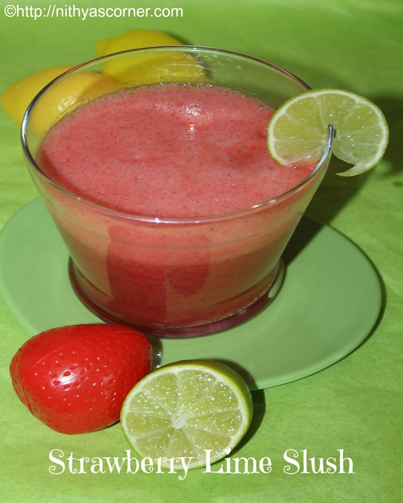 Strawberry lime slush recipe