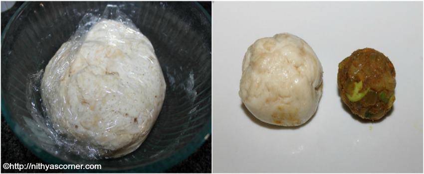 masala stuffed buns with stepwise pictures