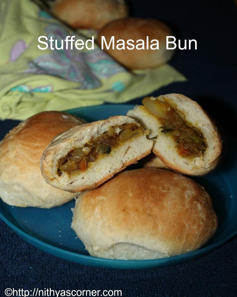 masala stuffed buns