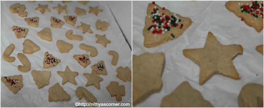 Eggless sugar cookies recipe