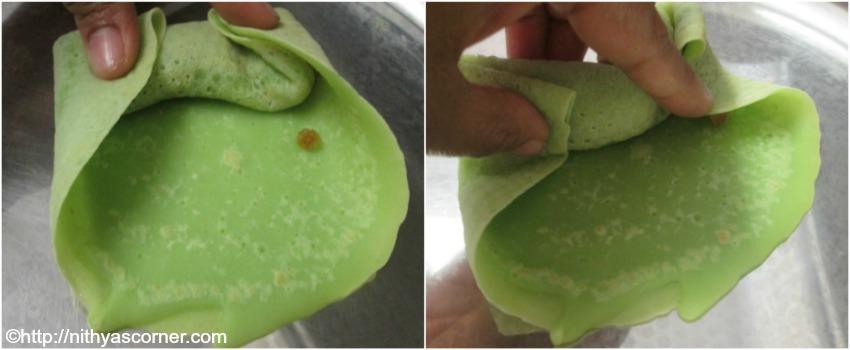Surul appam,kuih dadar recipe,sweet appam rolls