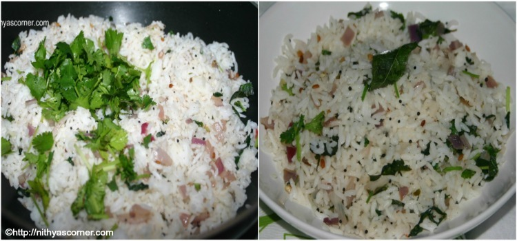 Thulasi Sadam, Basil Rice Recipe