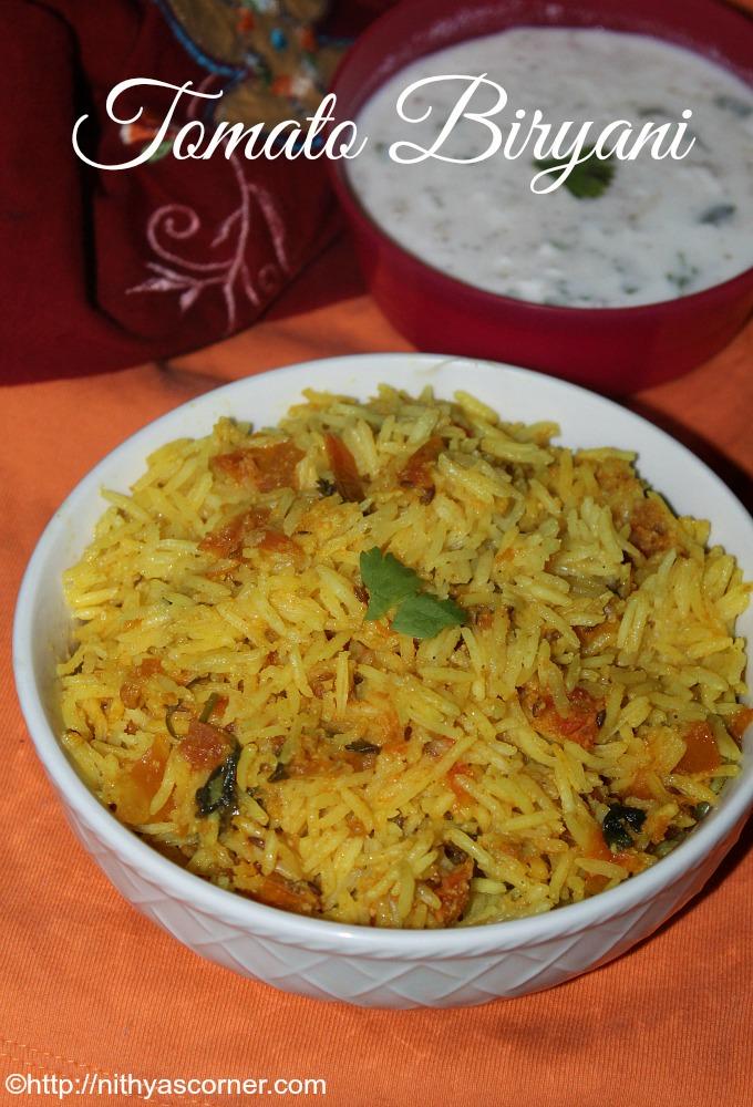 Tomato biryani recipe, Thakkali biryani recipe