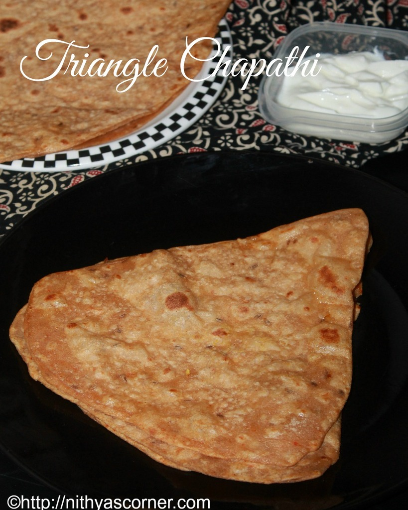 triangle chapathi recipe