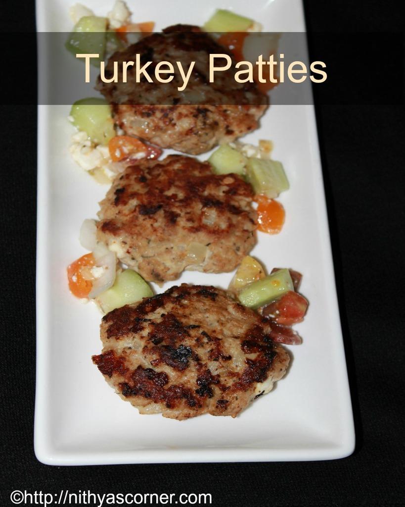 Turkey patties recipe