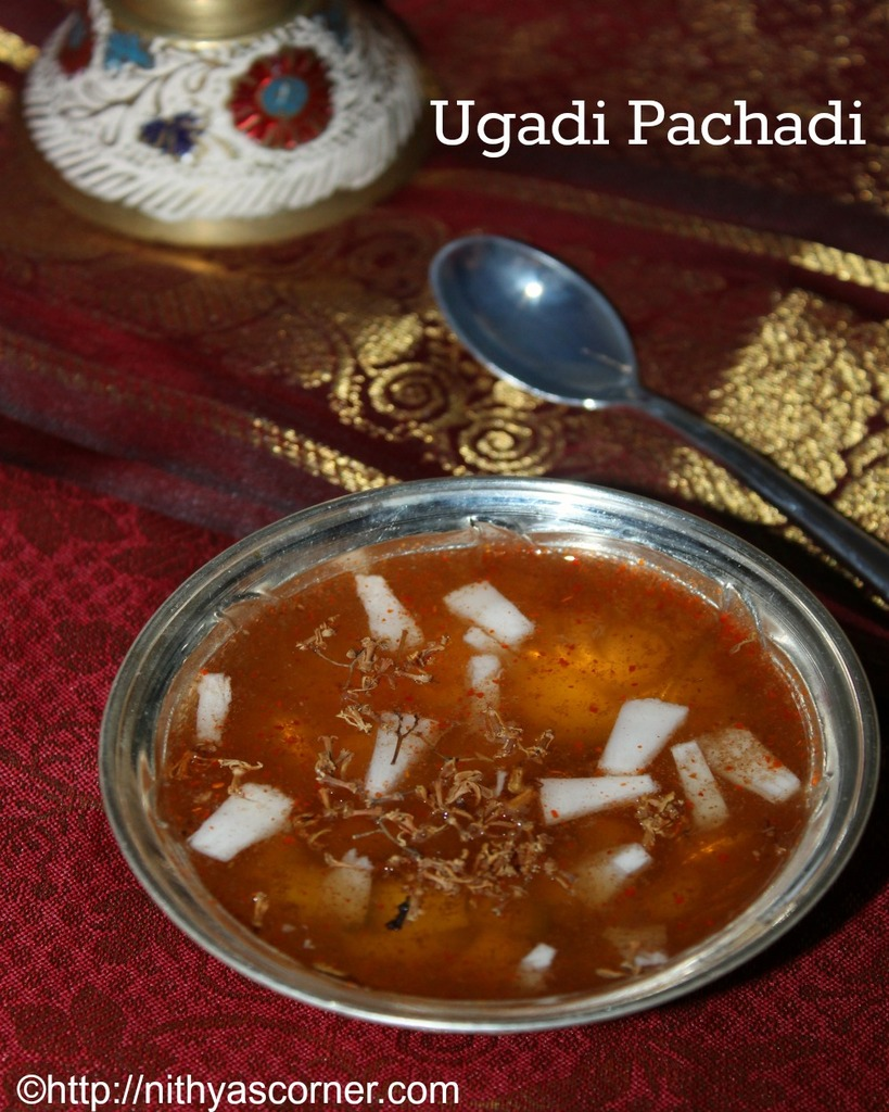 Ugadi Pachadi is a special preparation prepared in every Andhra home on Telugu New Year day.