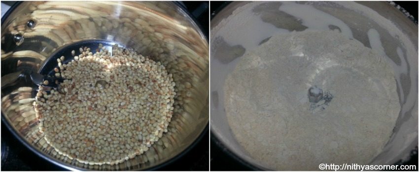 How to make Urad Dal flour with step by step pictures
