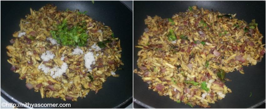 Vazhaikkai podimas recipe, plantain stir fry, raw banana stir fry
