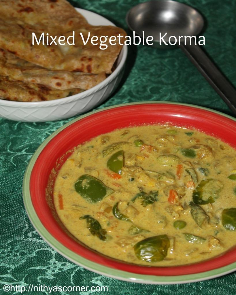 How to make vegetable kurma