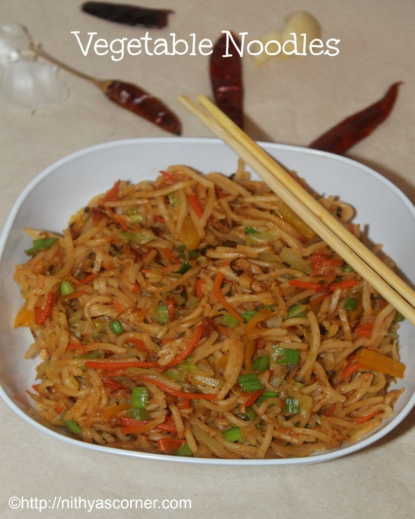 how to prepare vegetable noodles