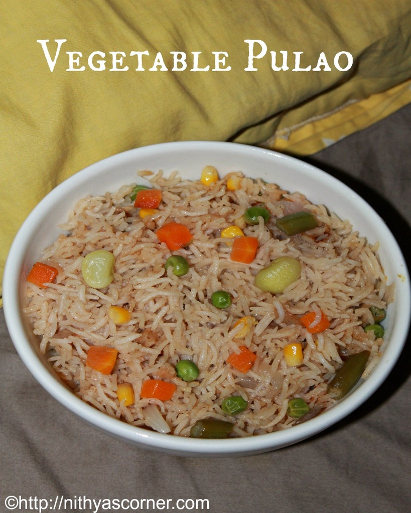 Vegetable Pulao Recipe, Veg Pulao Recipe