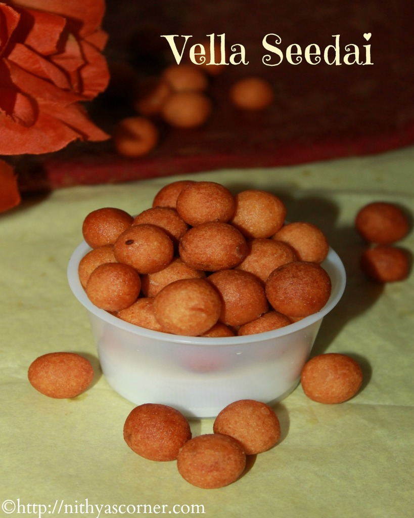 How to make vella seedai recipe