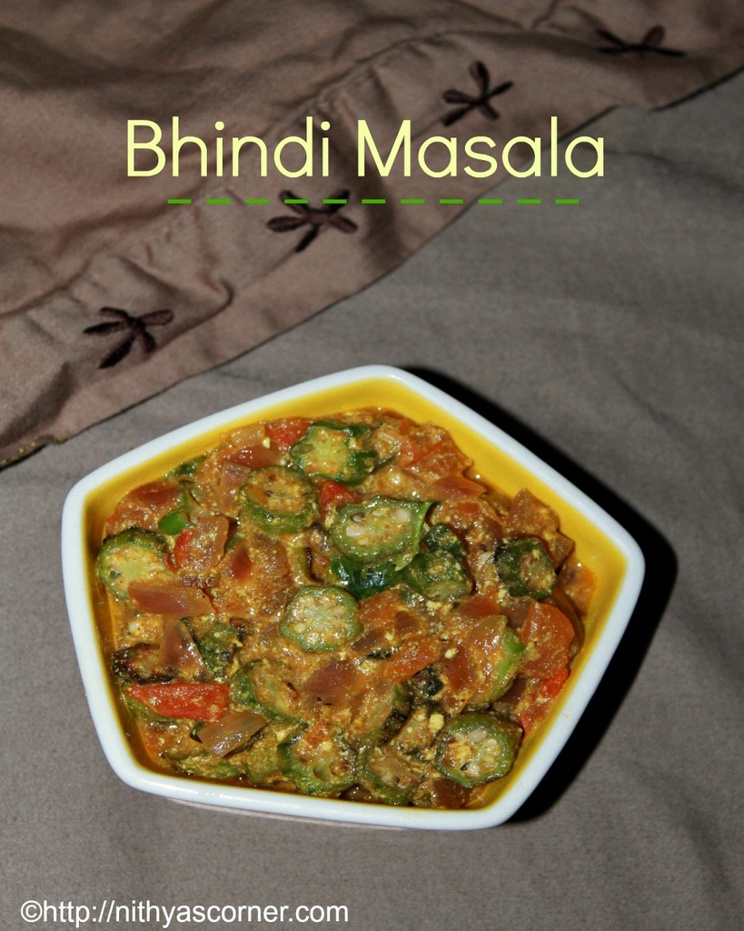 Vendakkai masala recipe, bhindi masala, okra gravy