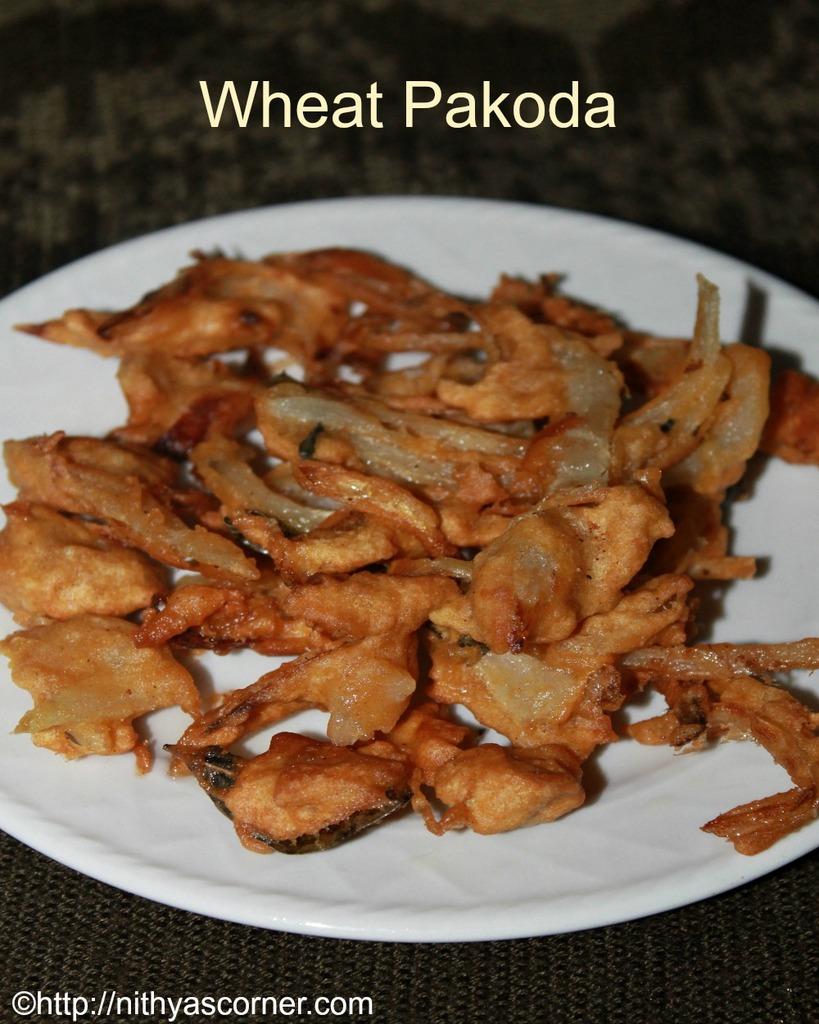 wheat flour onion pakoda recipe