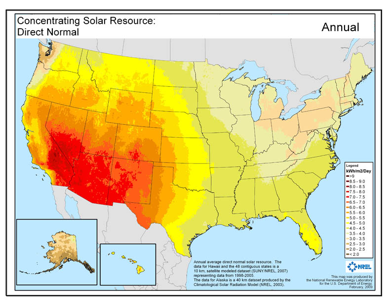 solar radiation map that factors into solar panel installation costs