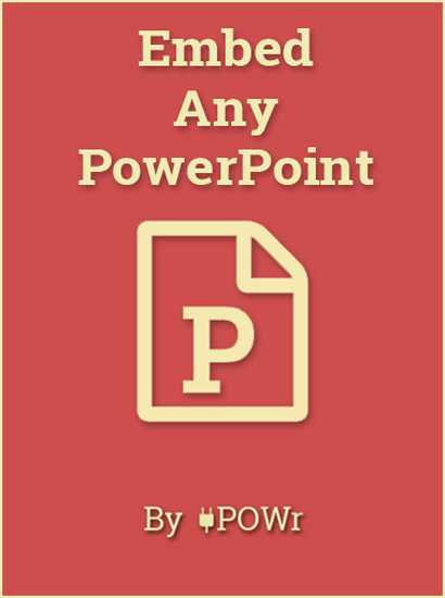 PowerPoint Embed Plugin