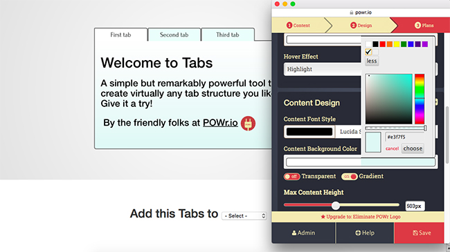 Let POWr Tabs Do the Work For You