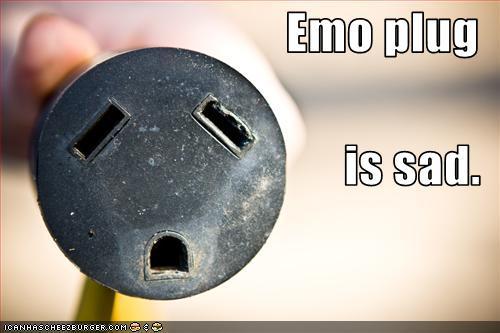 Emo plug is sad