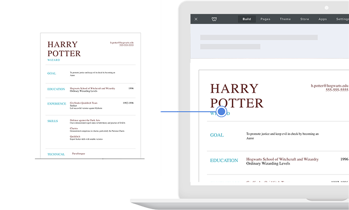 best free resume plugin for weebly