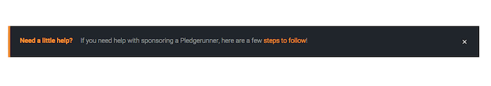 Pledgerunner - custom message alerts