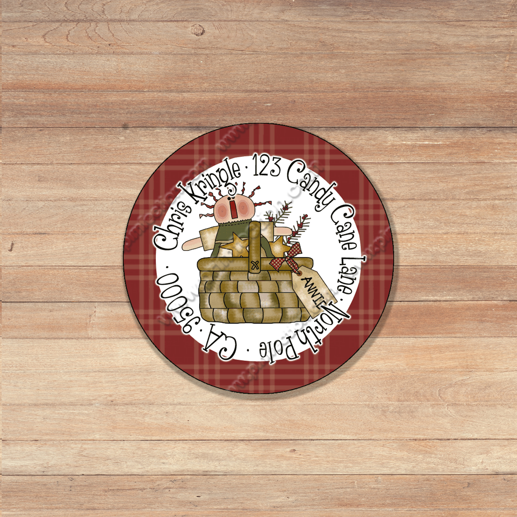 personalized round holiday christmas winter 1 return address labels