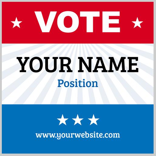 Political Sticker Design Template