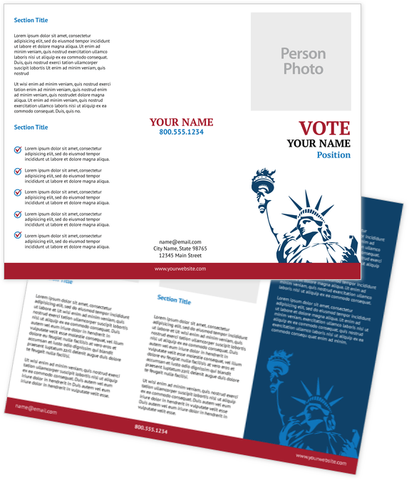 Political Brochure Design Template
