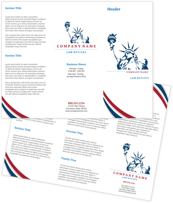 Legal Brochure Design Template