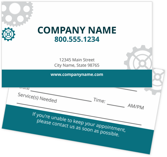 Appointment Cards Design Templates