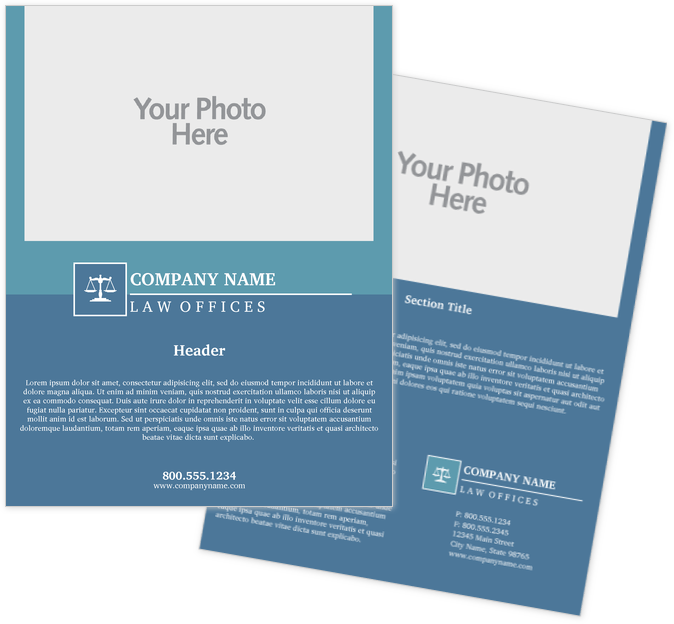 Legal Flyers Print Templates