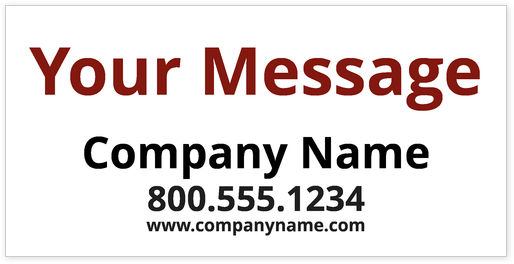 text-only-banner-design-template