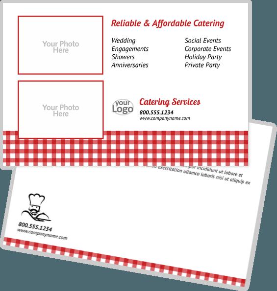 Food Postcard Templates