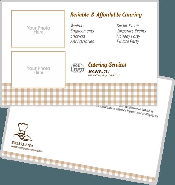 Food & Beverage Postcard Design Template